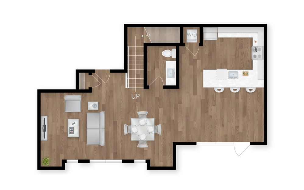 8.1 - 3 bedroom floorplan layout with 2.5 baths and 2012 square feet. (Floor 1)